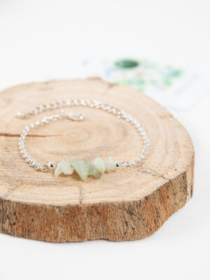 armband jade / silver plated